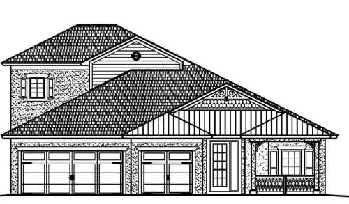 The Bimini - 4 bedroom, 3 bathroom, 3 car garage 3,004 sq. ft. under air / 4,109 sq. ft. total View Floorplan