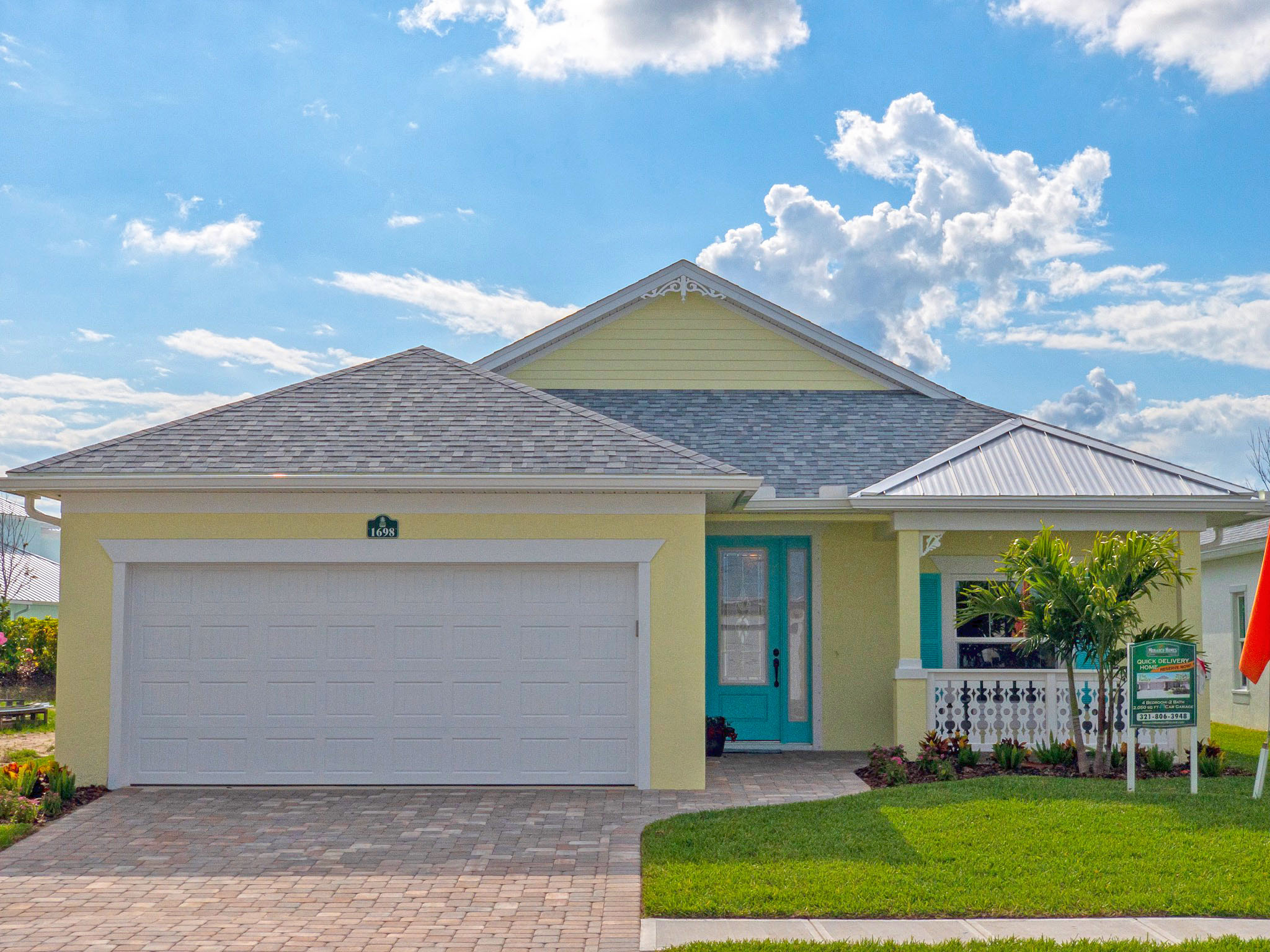 The Bailey - 4 bedroom, 2 bathroom, 2 car garage2,050 sq. ft. under air / 2,806 sq. ft. totalView FloorplanView Virtual TourQuick Move In