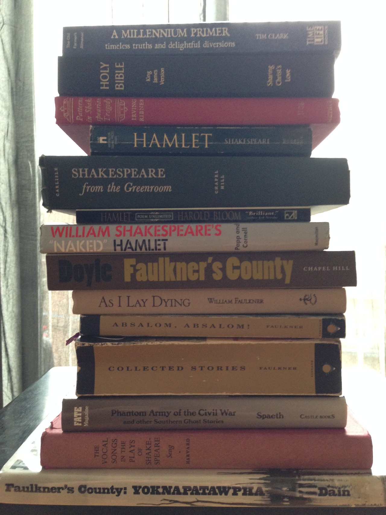 Books used in the creation of Short Life of Trouble.jpg