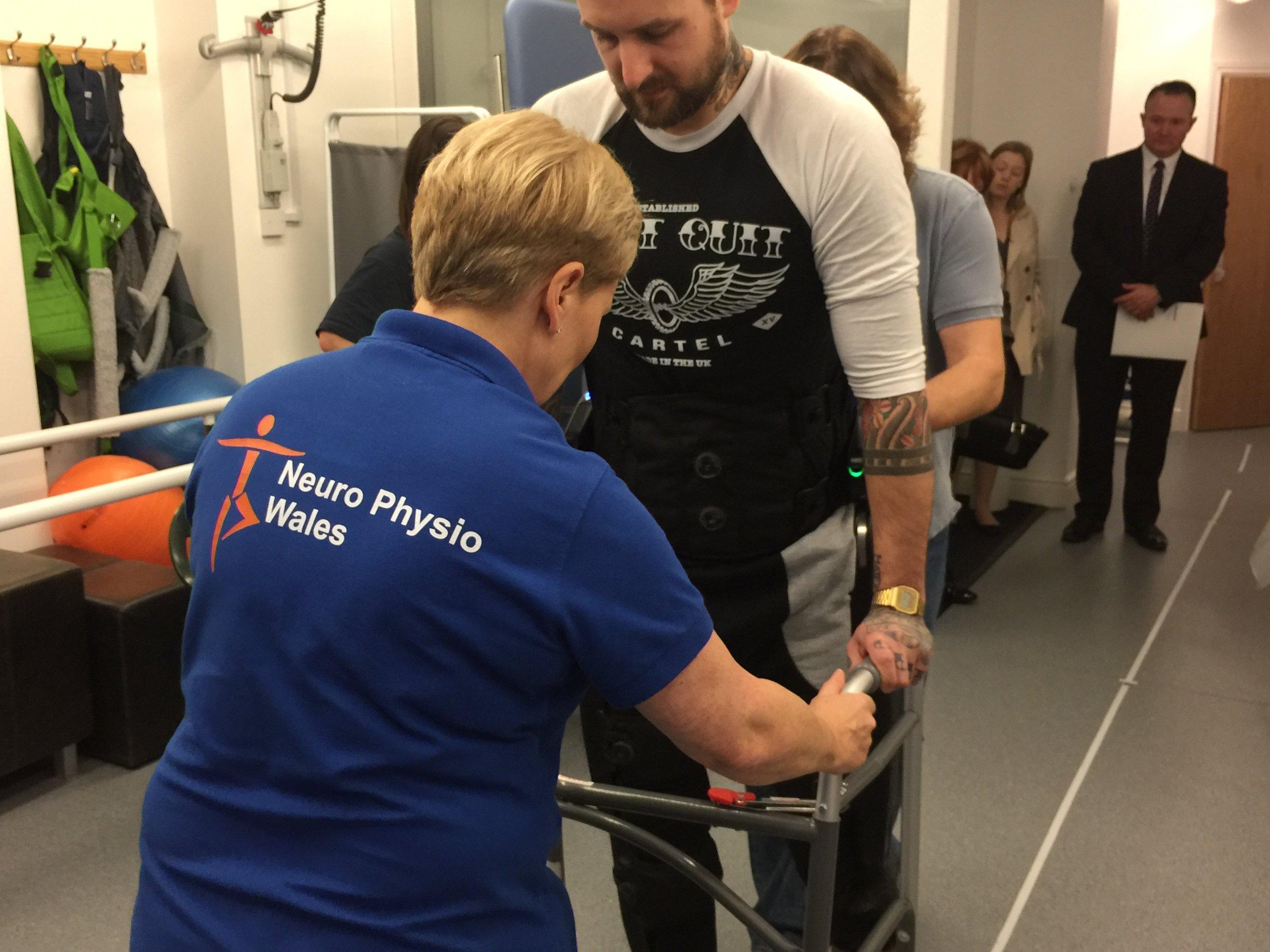 Sara at Neuro Physio Wales Gait Training