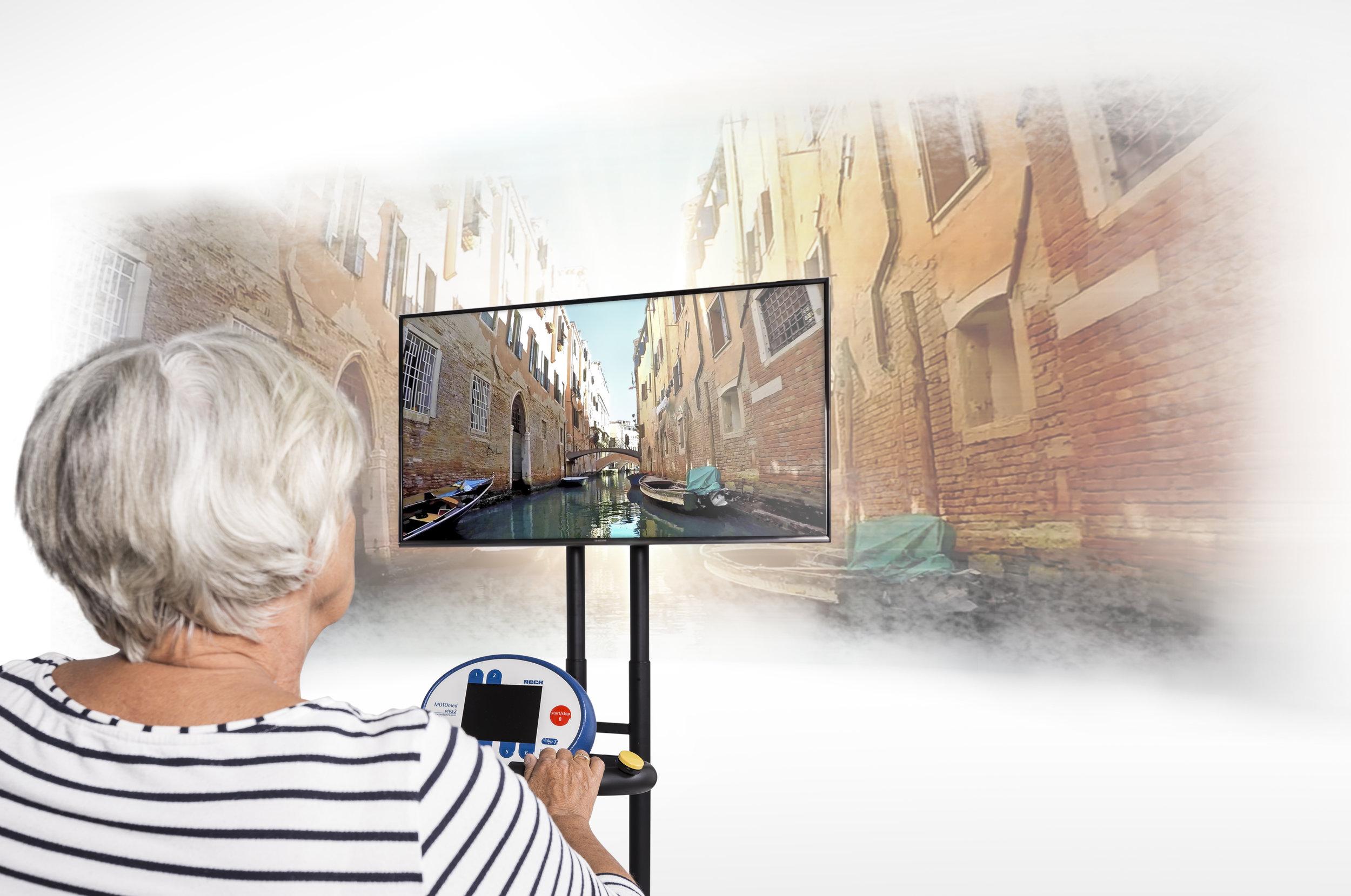 Bike Labyrinth provides a virtual reality landscape to augment cycling