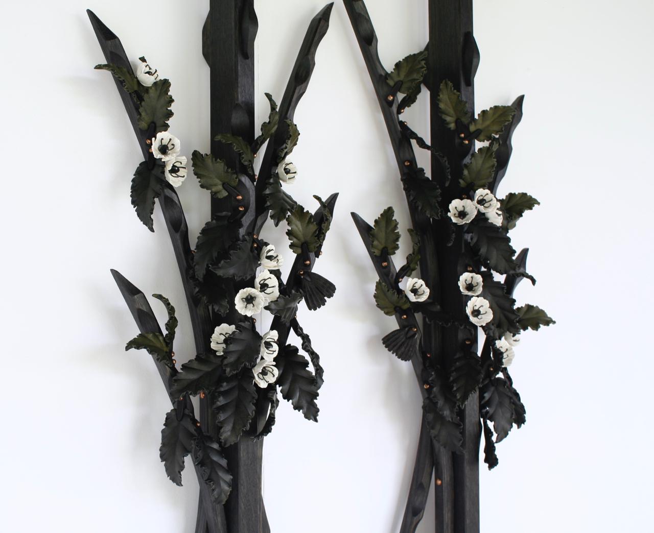 Lacebark single stems - detail.