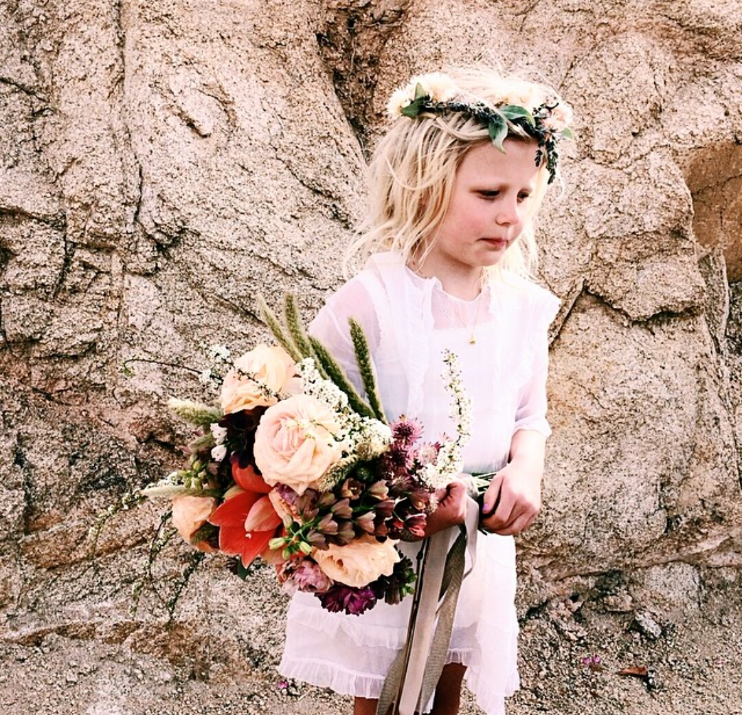 Flower girls need tons of flowers too!