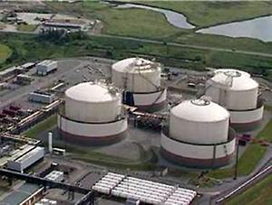 Figure 14.  LNG storage tanks at the Isle of Grain