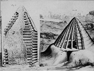 Figure 2. Primitive Huts (After Vitruvius). Claude Perrault. 1652