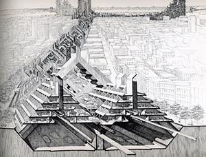 Figure 13. Lower Manhattan Expressway. Paul Rudolph. 197