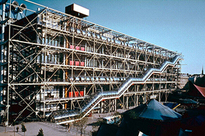 Figure 2. The facade of the Pompidou Center