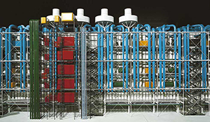 Figure 18. Pompidou Center: model showing the exposed services on the building's facade