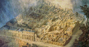 Figure 2. Gandy's perspective of Soane's scheme for the Bank of England