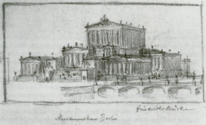 Figure 3. Frederick William IV's sketch of the Museum Island as he imagined it