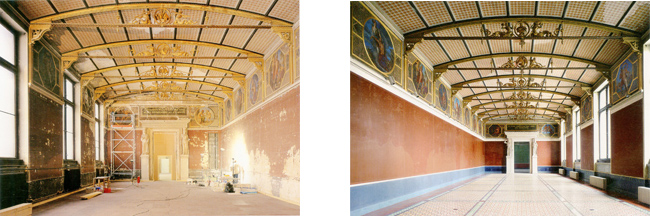 Figure 11. A gallery before and after the renovation