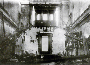 Figure 7. View of the staircase after the bombing