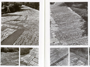 Figure 5. Views of the varying paving patterns across the site