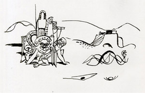 Figure 11. Drawing from the 'Attica' series