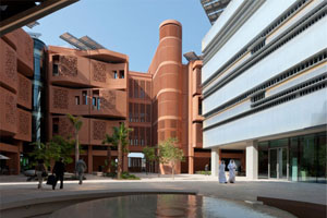 Figure 7 . Central Courtyard of the Masdar Institute