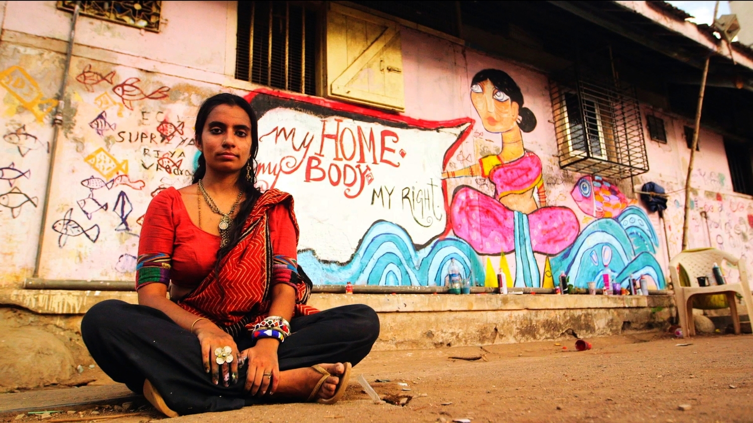 Shilo Shiv Suleman creating street art about women's sexual health in India