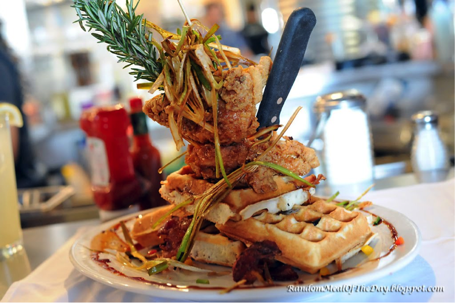 Chicken and Waffles from Hash House A Go Go