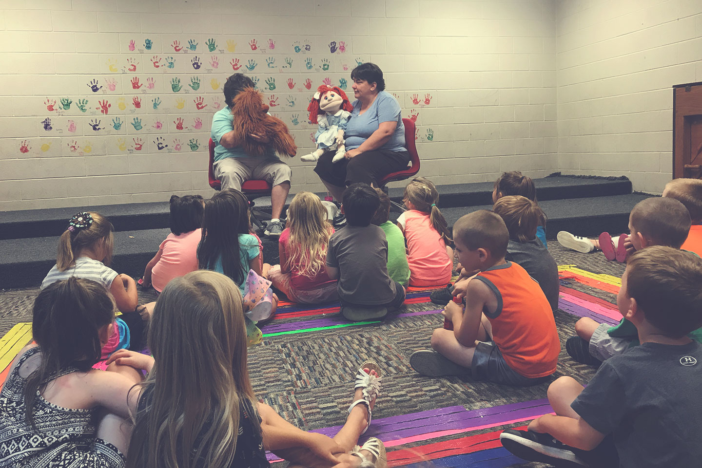 A Bible Lesson with Puppets at the Boys and Girls Club