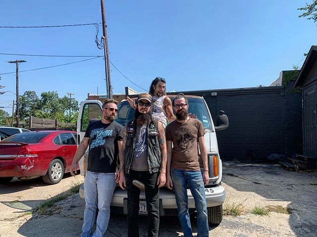 On our way to Babbitt, MN! Kansas City tonight! Can't wait for hotel cable! Wish ya luck, send us money! 📸 @alexisgabriele . . #dffe #hideyourfathers #album #dallasmusic #rockandroll #fenderamp #ludwigdrums #orangeamps #ampeg #letsgetangry #newmusic #dallasmusic #albumrelease #deadflowers