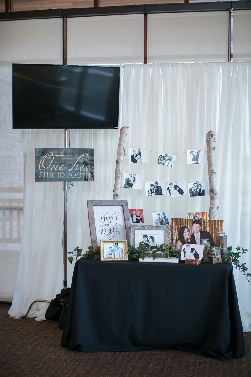 photography booth at the first look autumn wedding show
