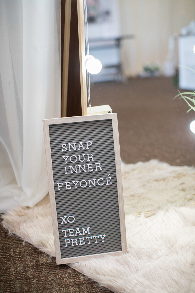 wedding quote on letter board