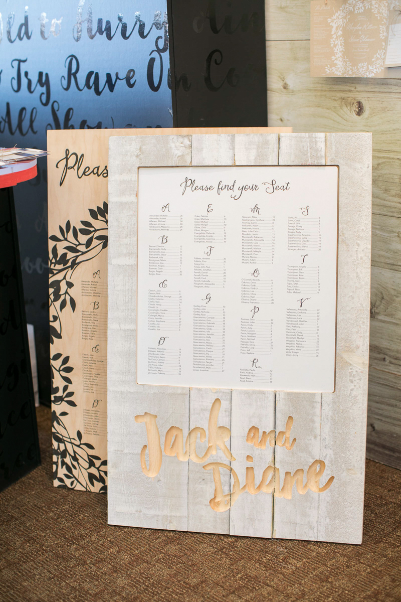 wedding day custom wooden seating chart