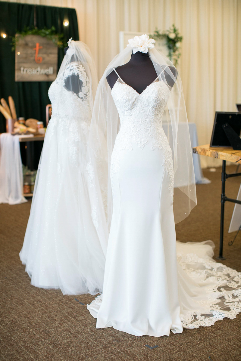 wedding gowns on display at first look autumn wedding show