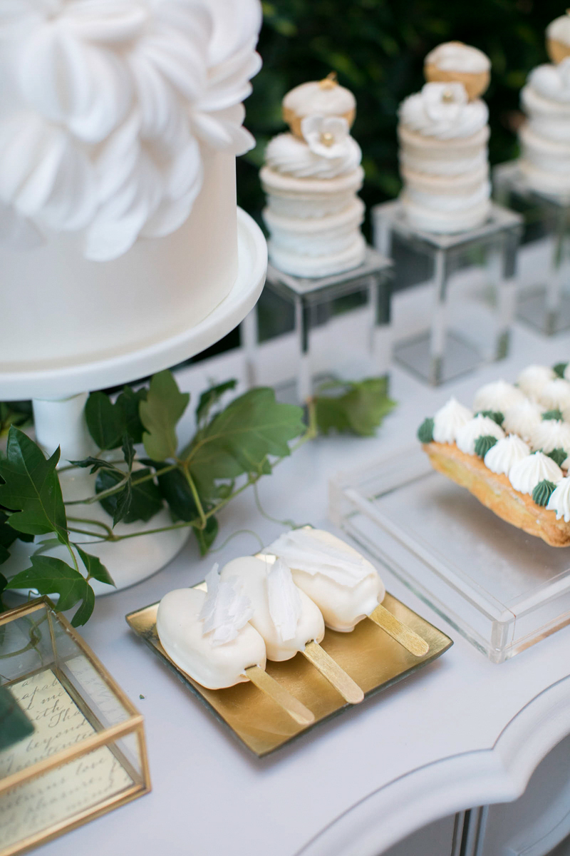 wedding day sweets table display