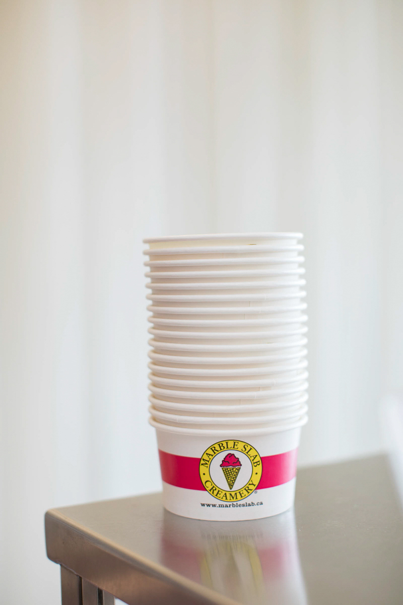marble slab creamery ice cream serving cups