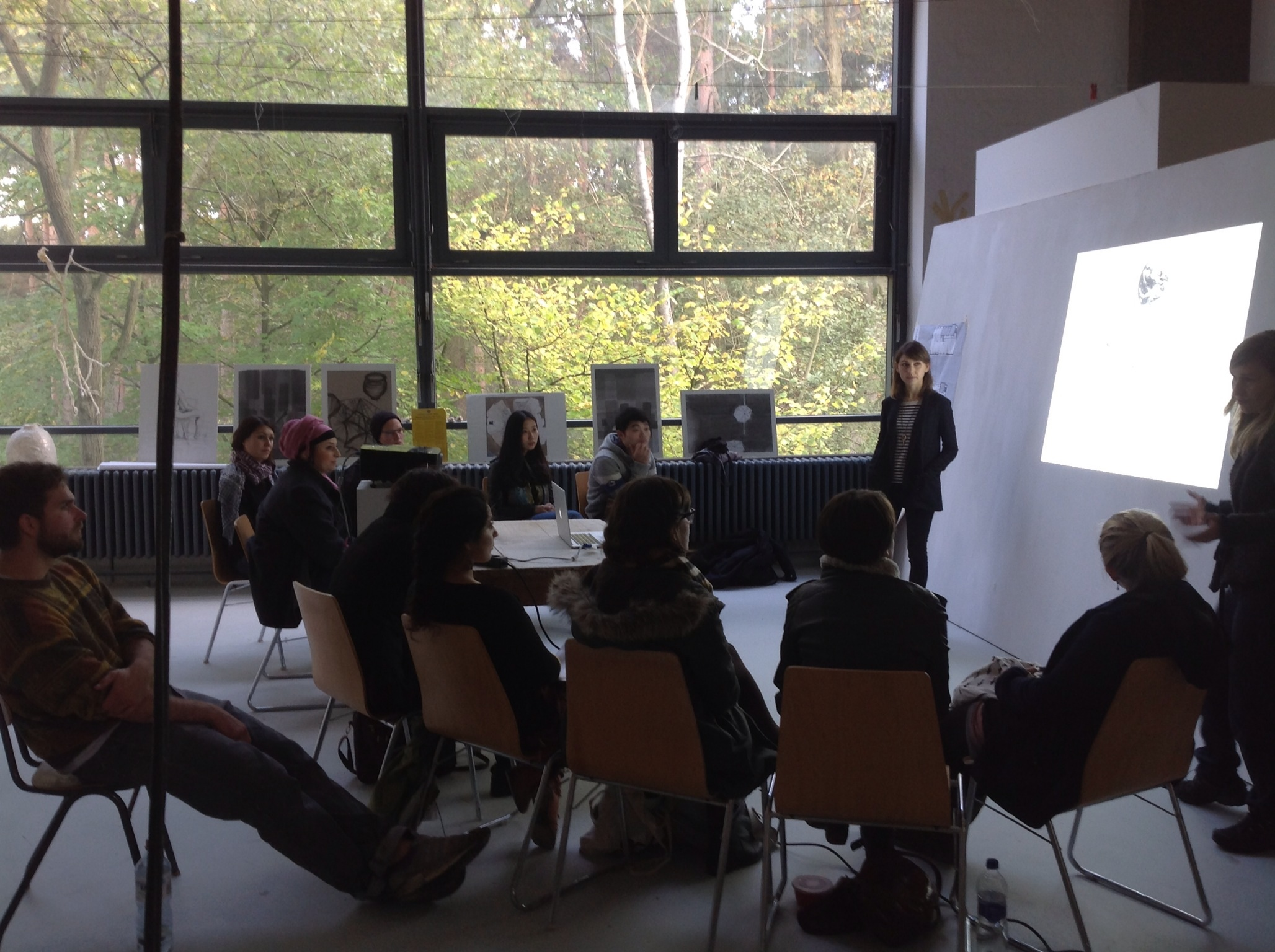"First meeting of the ""Becoming Aerosolar"" graduate seminar at The New Art Institute, TU Braunschweig."