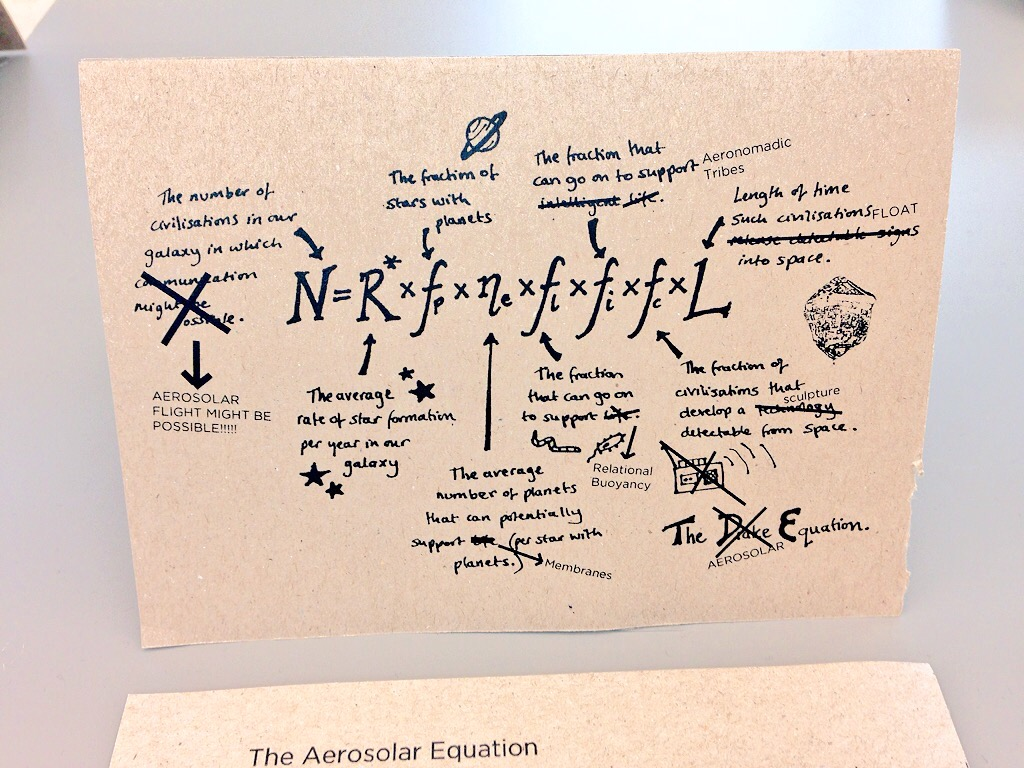 Rewriting the Drake Equation for Aerosolar intelligence.