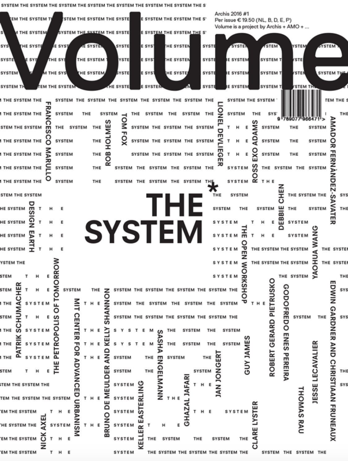 Cover of Volume Magazine issue 47: The System