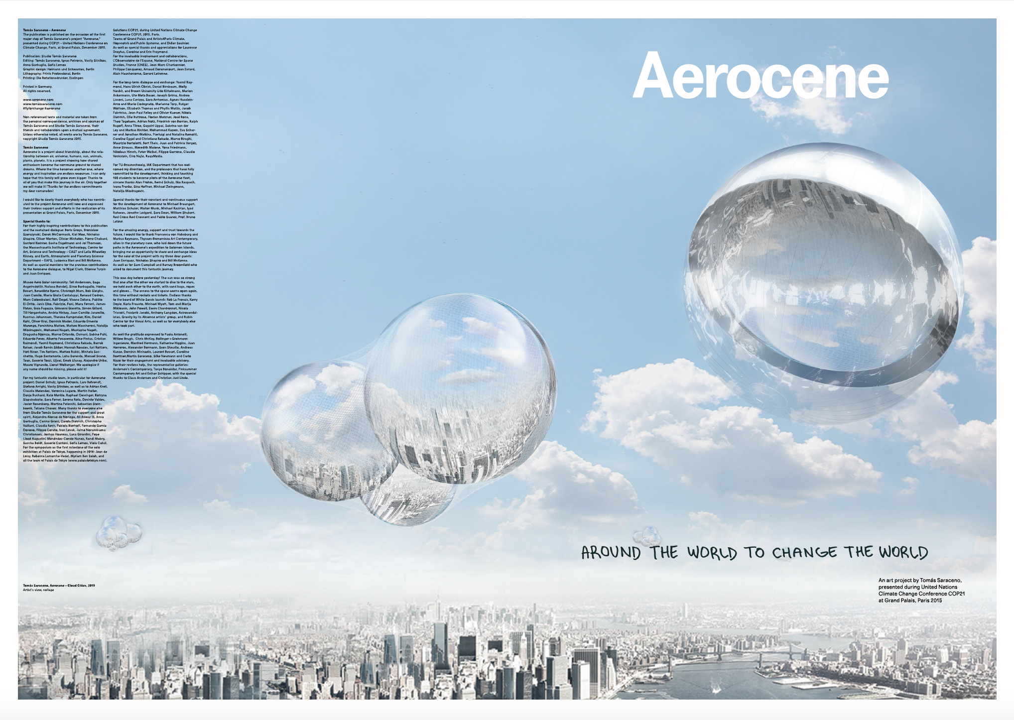 The Aerocene Newspaper by Studio Tomás Saraceno  www.aerocene.com