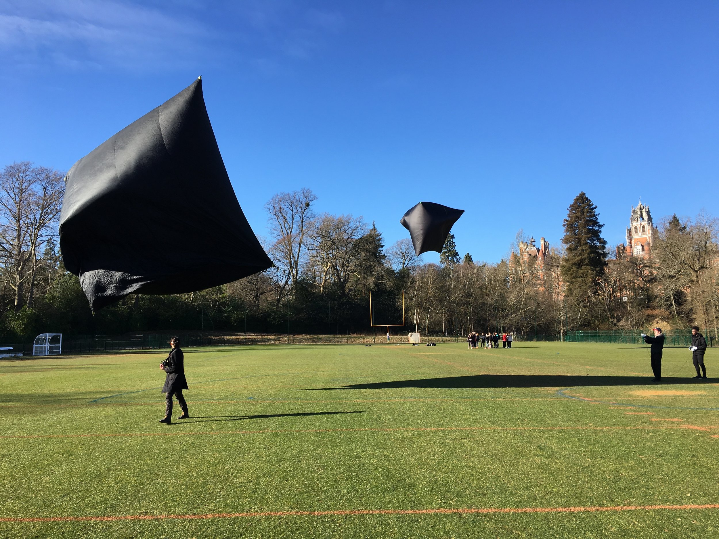"Double Aerocene Explorer Launch by students in in ""Atmospheres: Nature, Culture, Politics"", 2018. Photography by Sasha Engelmann."