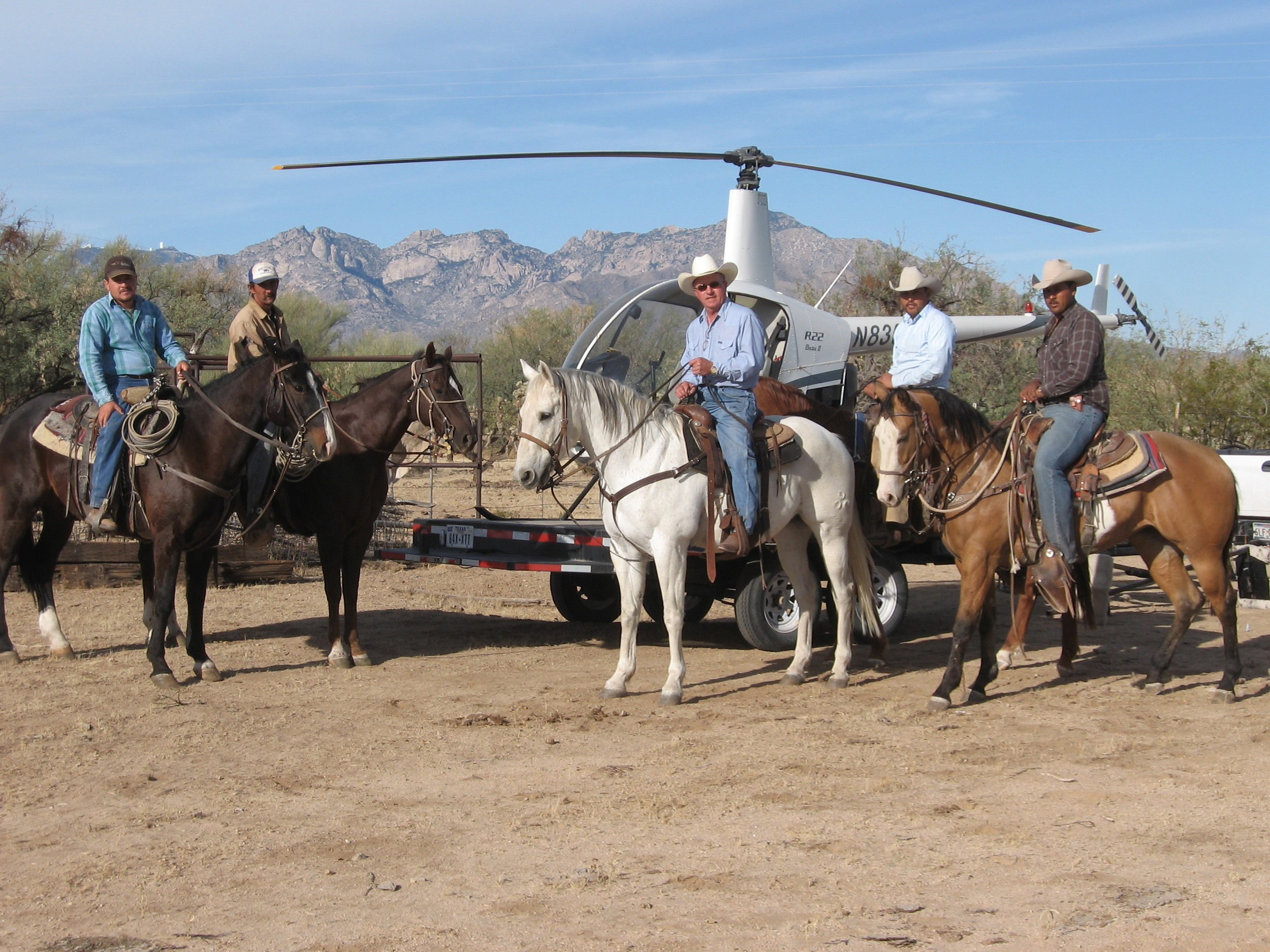 Lange Helicopters provides livestock roundup services for Texas, New Mexico, and Arizona.
