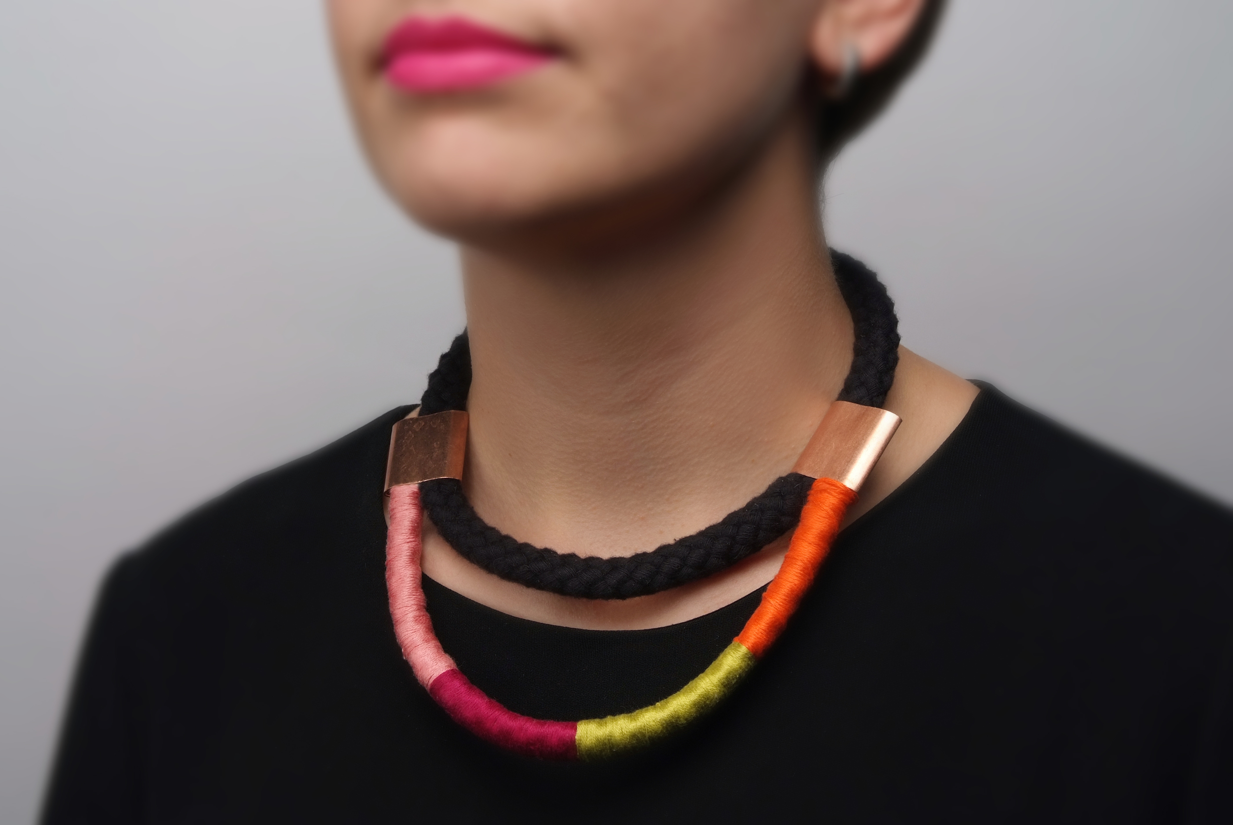 miss cloudy copper pipe necklace