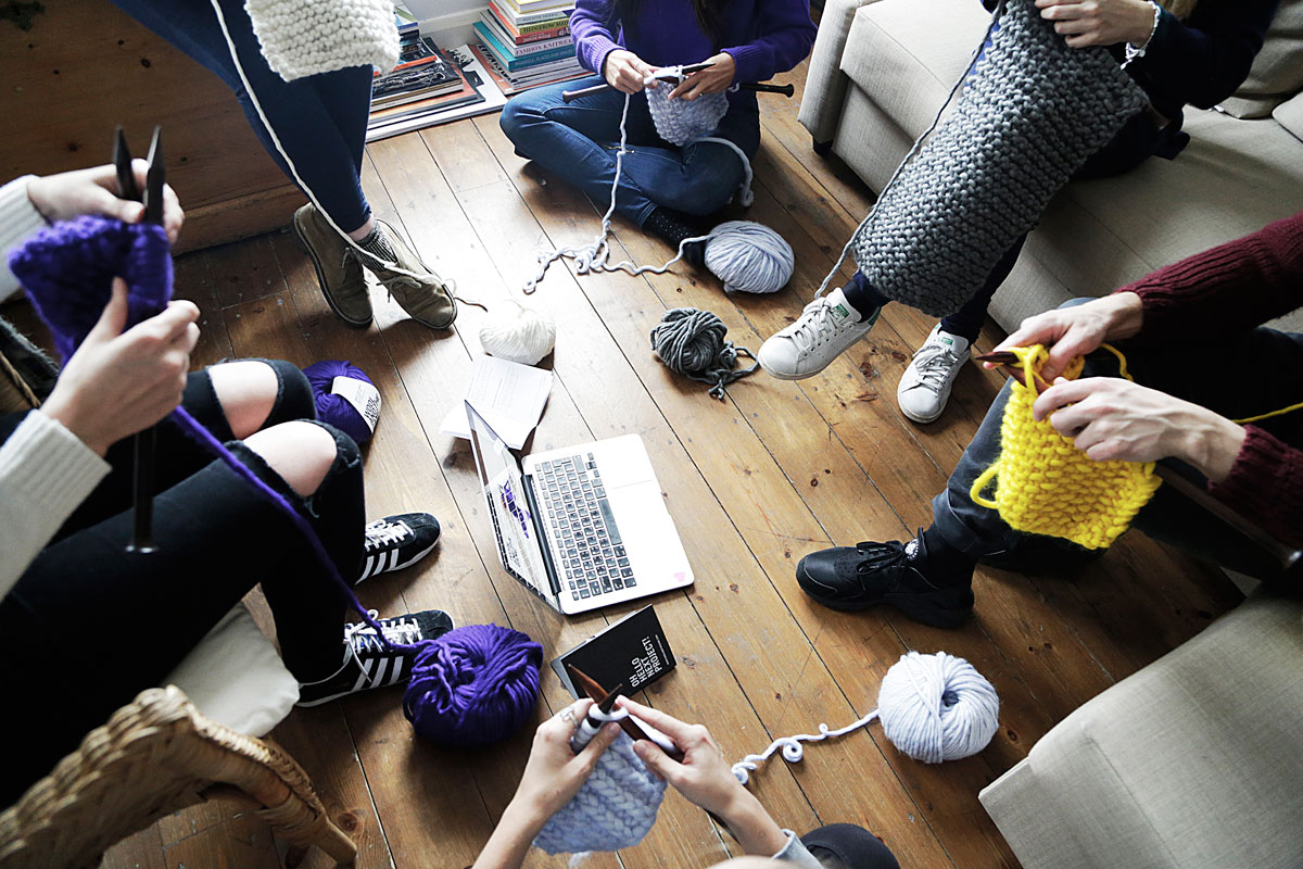 Miss Cloudy x Wool and the gang first knit party in montreal