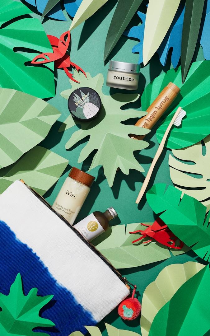 miss-cloudy-Nik-Mirus-En-Route-magazine-air-canada-leloi-studio-still-life-paper-art-props-tropical-leaves-cover