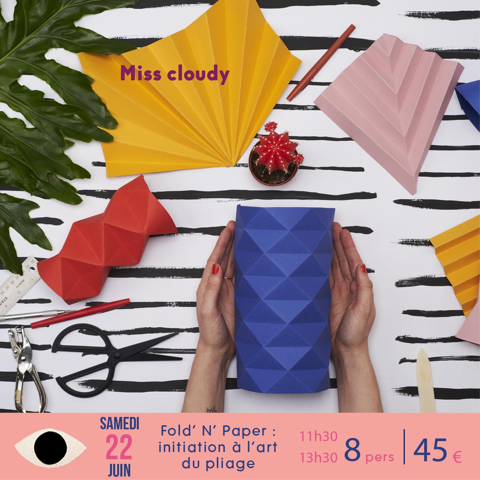 miss cloudy atelier workshop origami paris boutique klin oeil