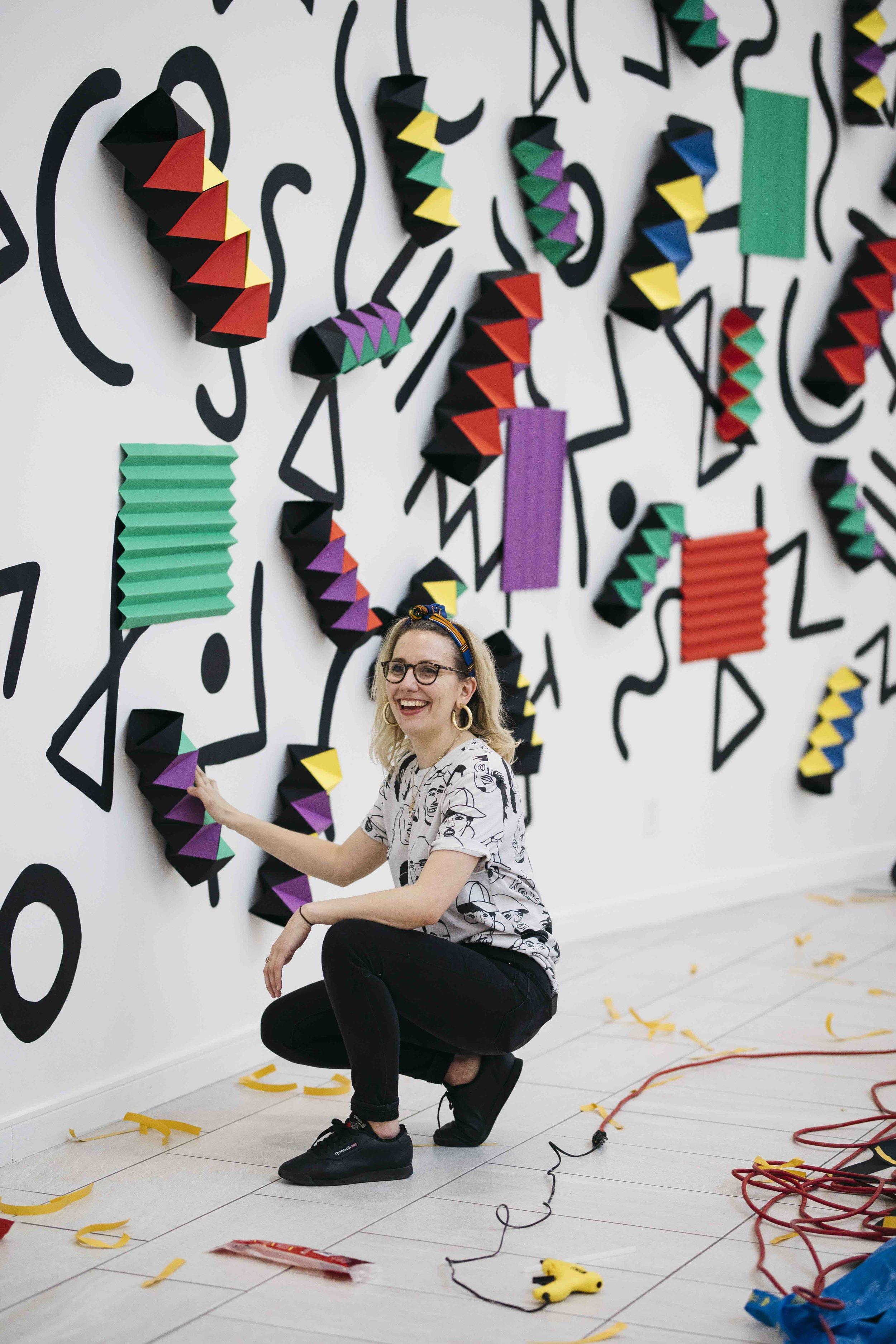 miss cloudy pauline loctin ancestrale paper art installation origami mural wall 10.jpg
