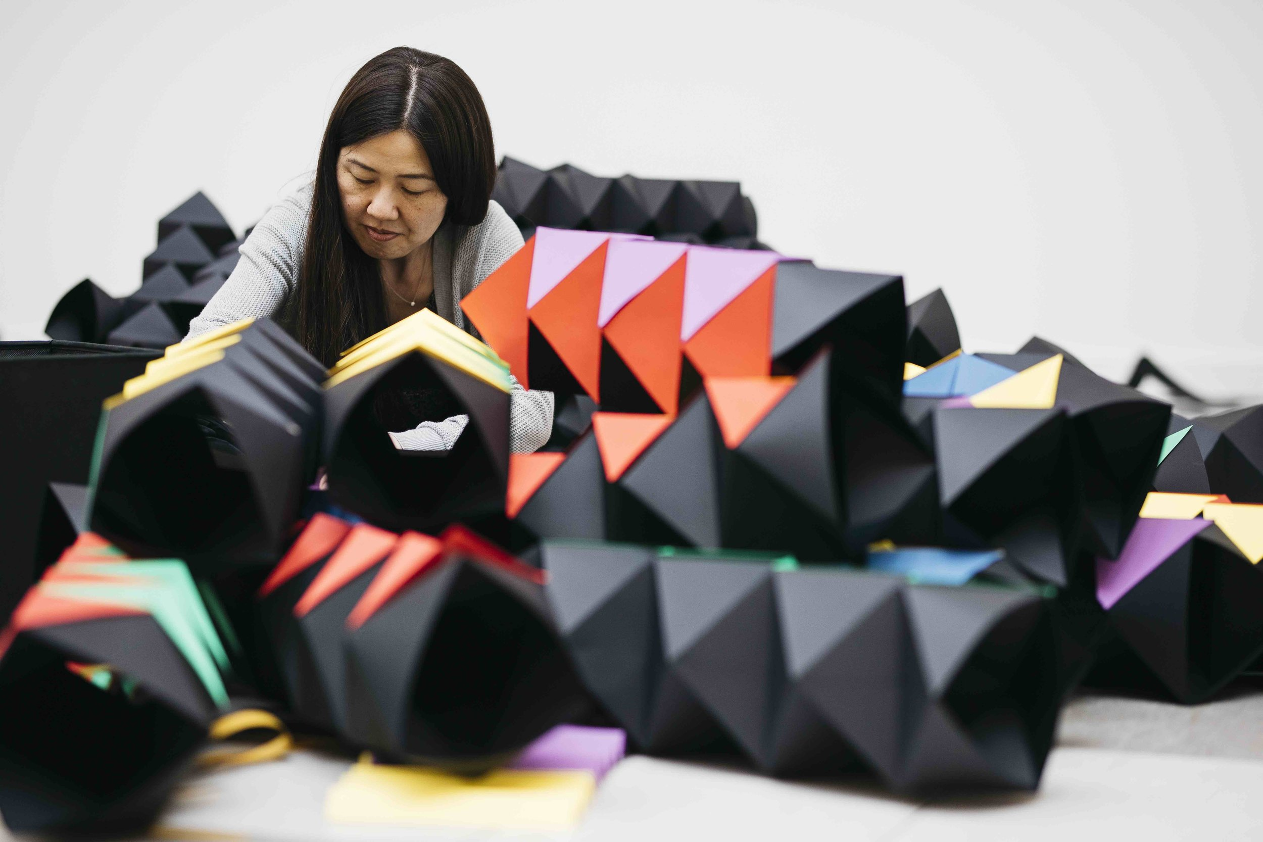 miss cloudy pauline loctin ancestrale paper art installation origami mural wall 1.jpg