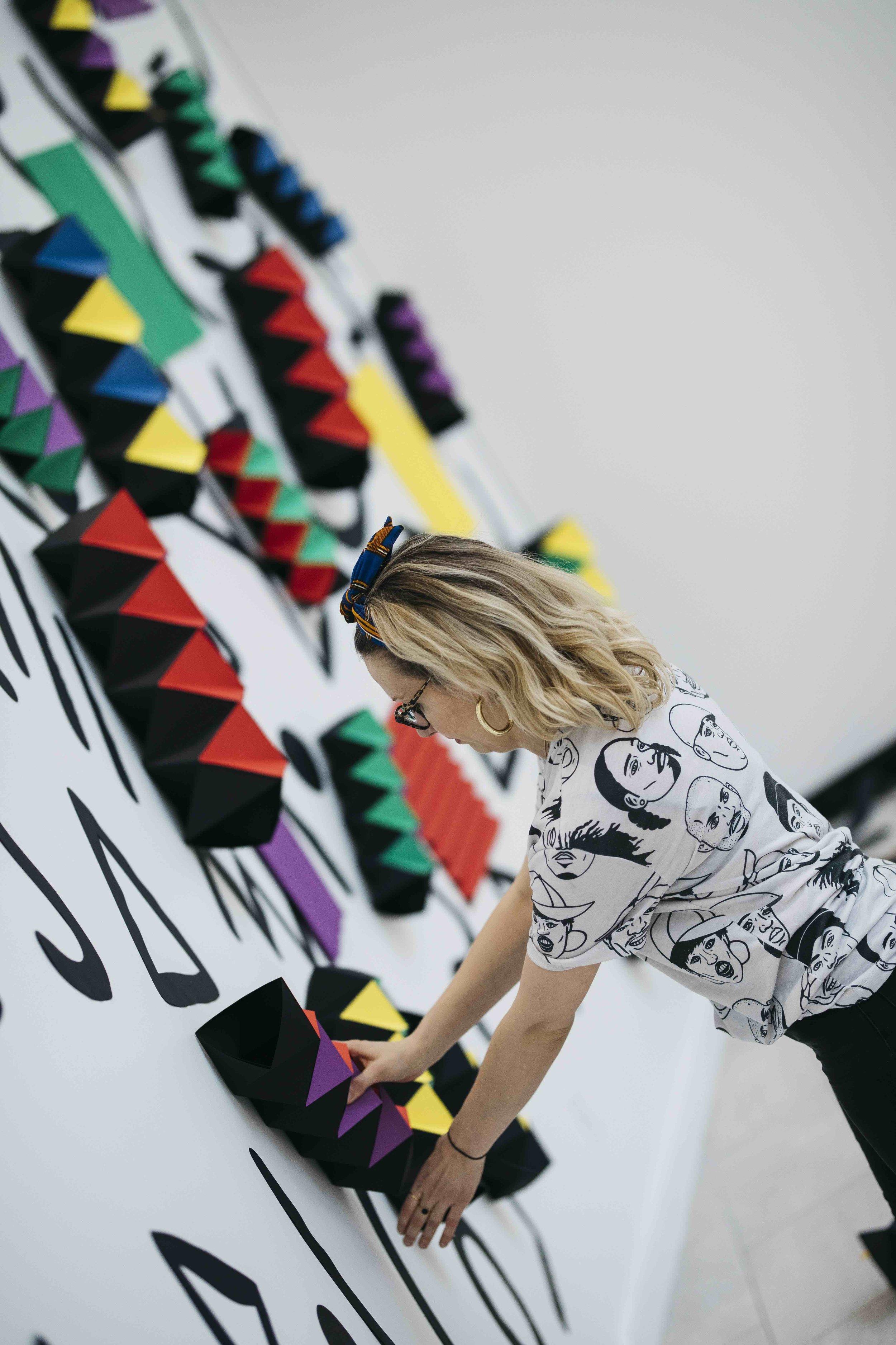 miss cloudy pauline loctin ancestrale paper art installation origami mural wall 12.jpg