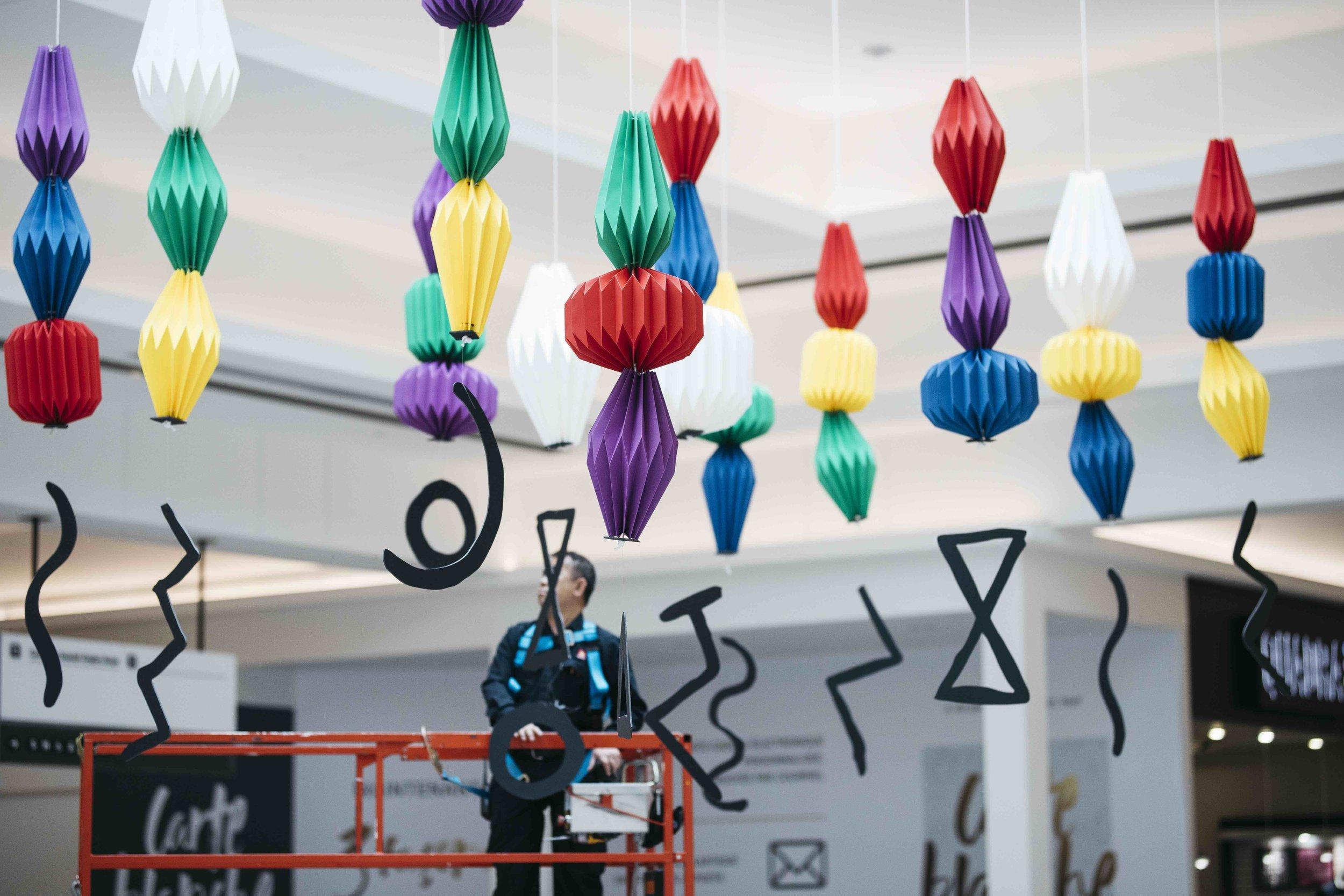 miss cloudy pauline loctin ancestrale paper art installation origami mural wall 13.jpg