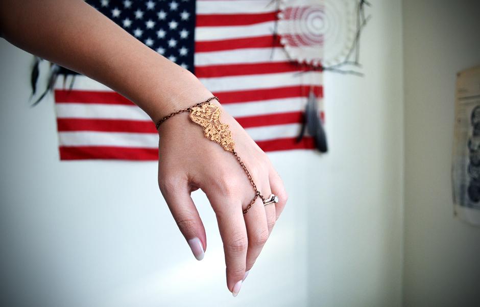 Golden Lace Slave Bracelet