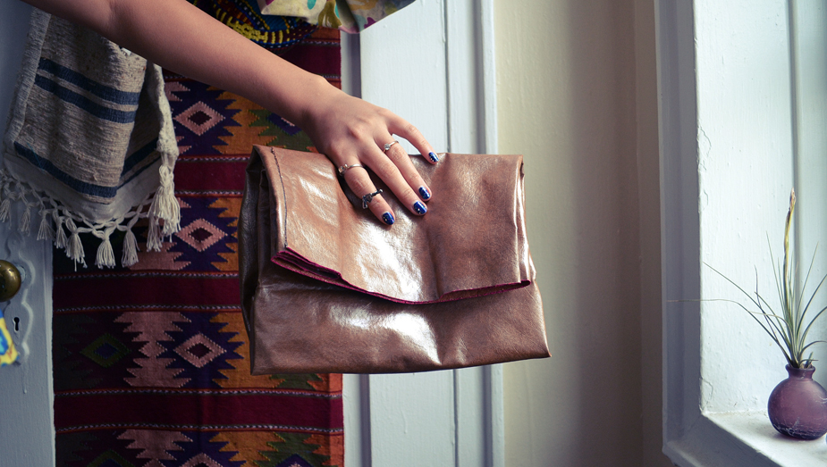 No-Sew Leather Paper Bag Clutch