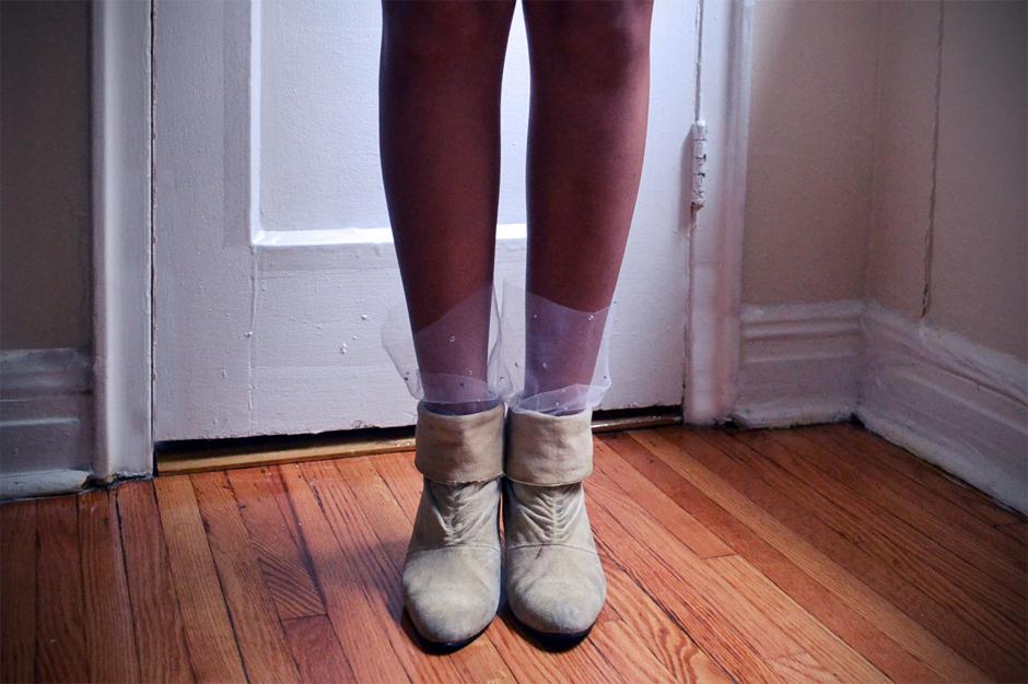 Marchesa Inspired Tulle Socks