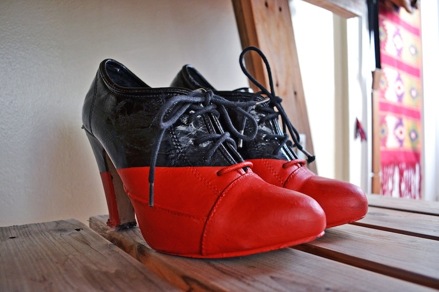 Viktor+Rolf Red And Black Booties