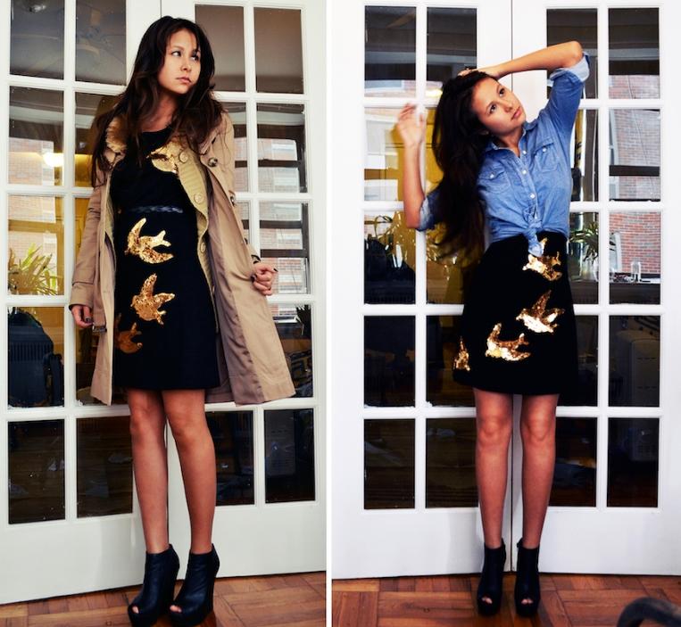 Miu Miu Sequin Bird Dress