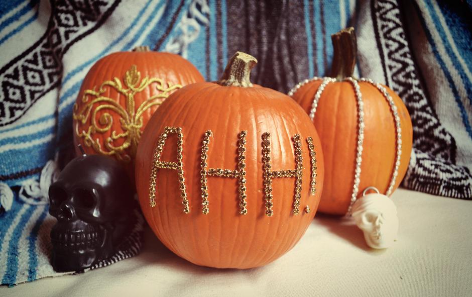 Fancy No-Carve Pumpkins