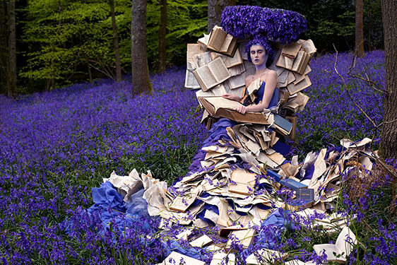 Photograph by  Kirsty Mitchell , The Story teller, from the Wonderland series